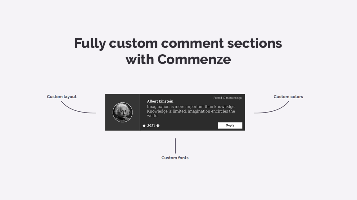 Custom comment theme